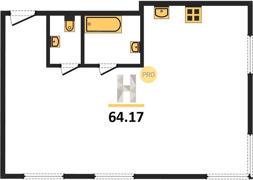 3-комнатная квартира в ЖК Зорге 9