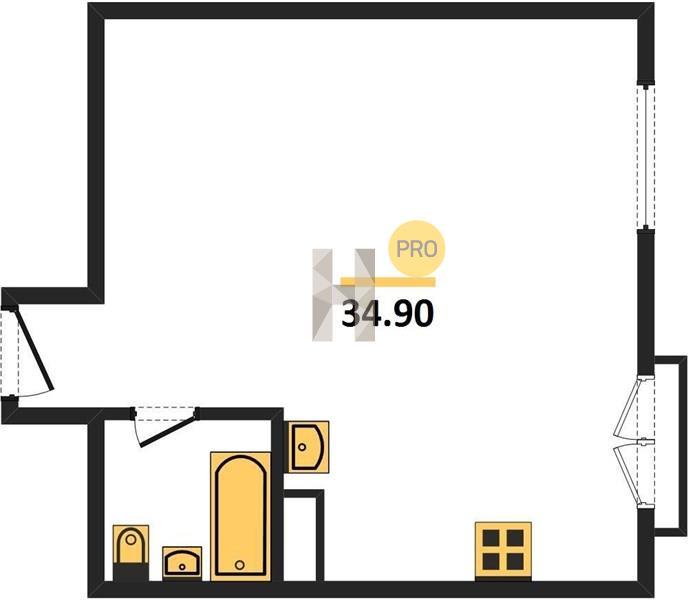 1-комнатная квартира в ЖК Ленинградка 58