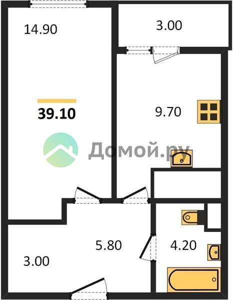 1-комнатная квартира в ЖК Новое Медведково
