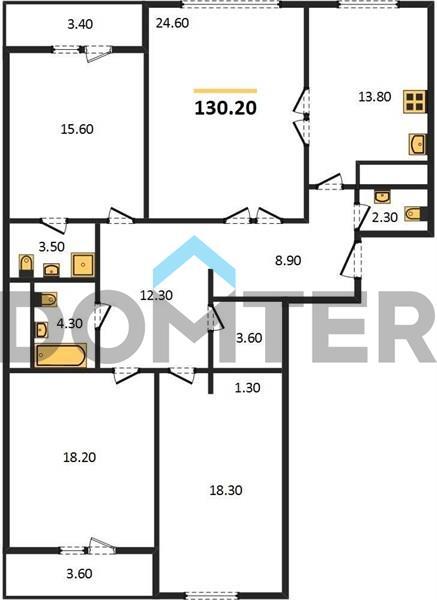 4-комнатная квартира в ЖК Вавилов дом