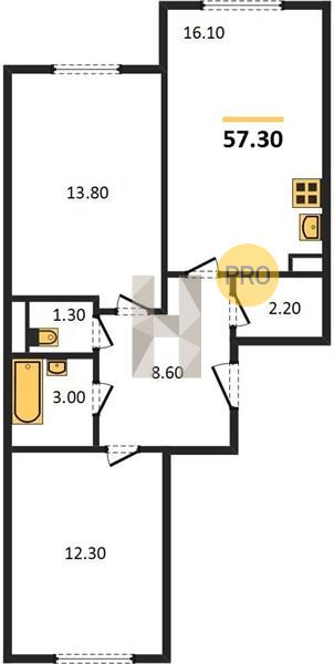 2-комнатная квартира в ЖК Большое Путилково
