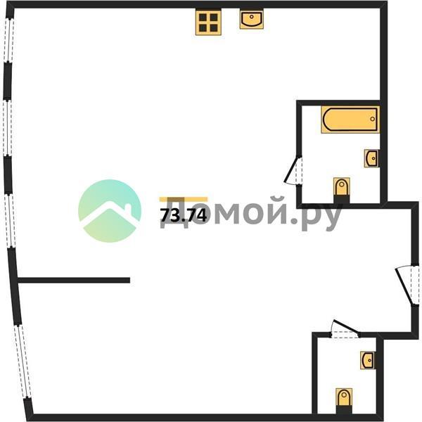 1-комнатная квартира в ЖК Крылья