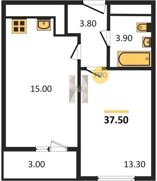 1-комнатная квартира в ЖК Большое Путилково