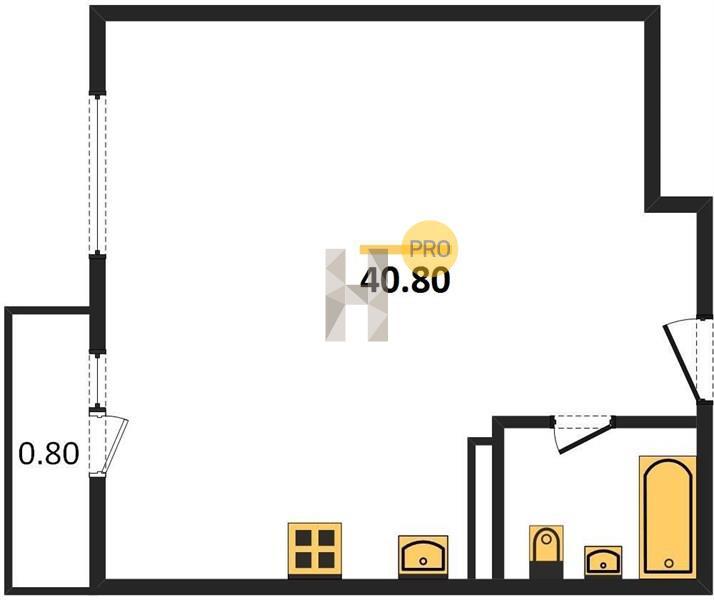 1-комнатная квартира в ЖК Испанские кварталы