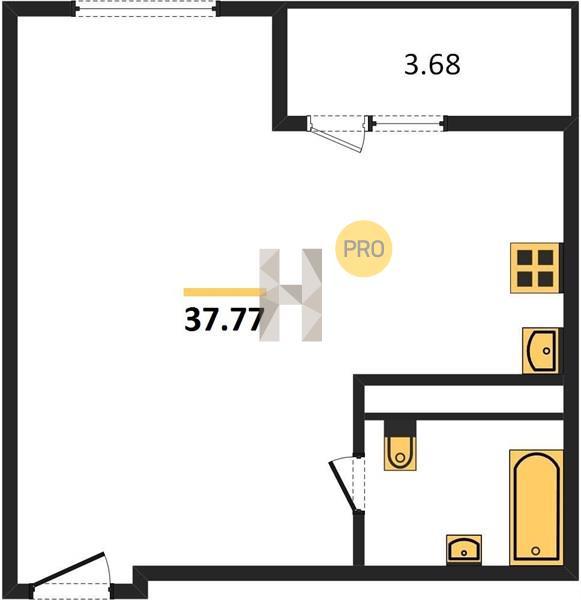 1-комнатная квартира в ЖК Михайлова 31