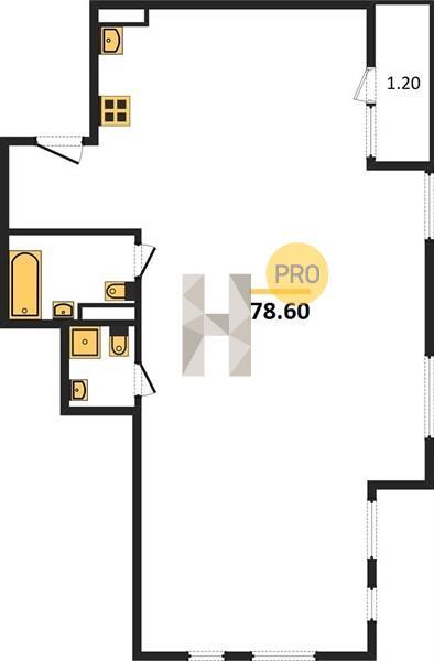 3-комнатная квартира в ЖК Скандинавия