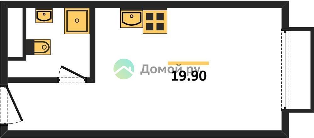 студия квартира в ЖК Level Амурская