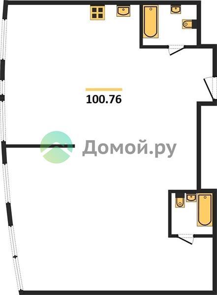 2-комнатная квартира в ЖК Крылья