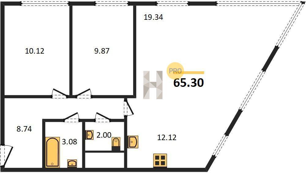3-комнатная квартира в ЖК Спутник в Строгино