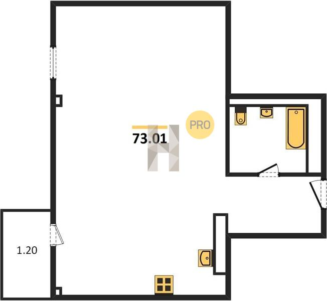 2-комнатная квартира в ЖК Загородный квартал