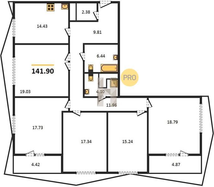 5-комнатная квартира в ЖК Город на реке Тушино-2018